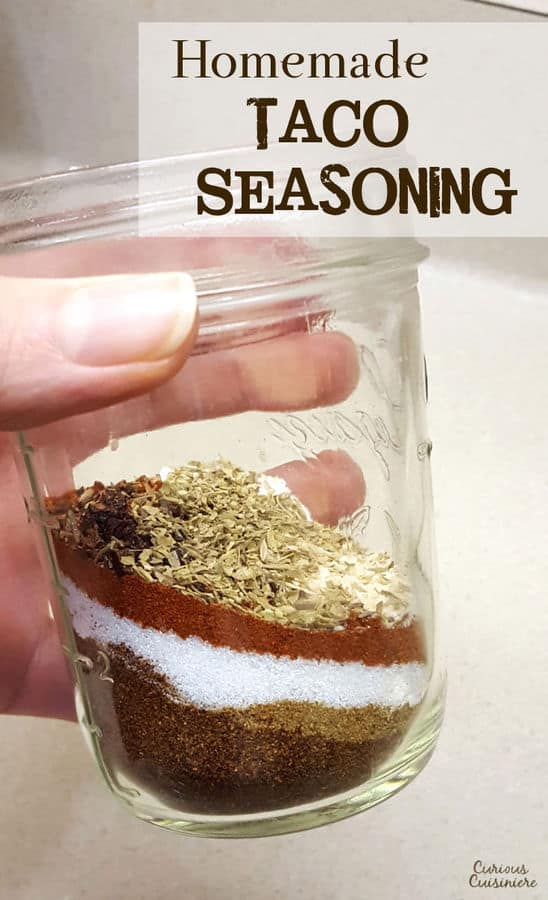 Ditch the store bought mixes for this easy Taco Seasoning recipe, made from spices that you already have in your pantry. | www.CuriousCuisiniere.com