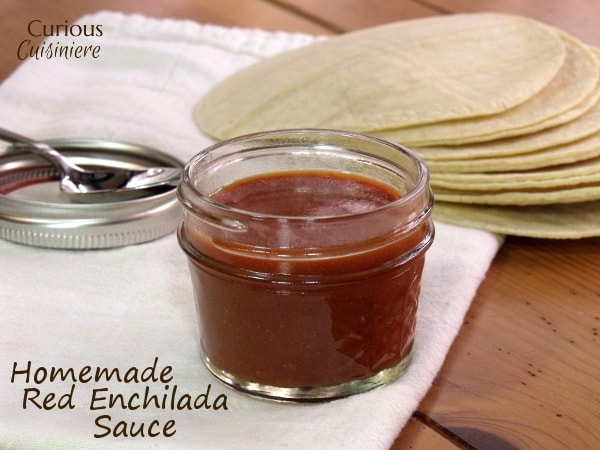 Homemade Red Enchilada Sauce from Curious Cuisiniere