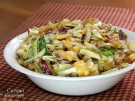 Apple Cheddar Slaw | Curious Cuisiniere