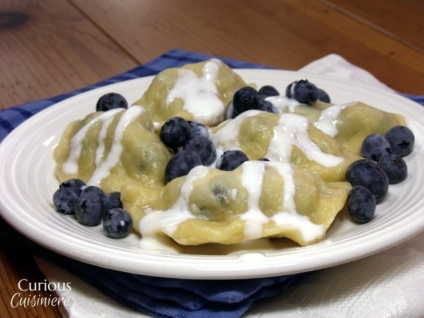 Blueberry Pierogi   Curious Cuisiniere