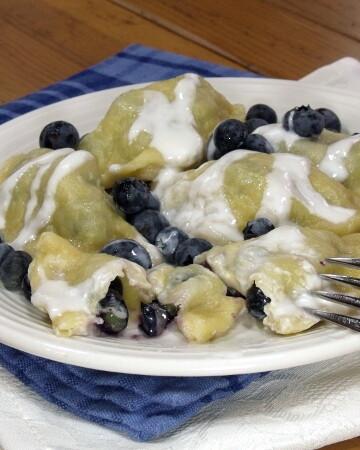 Blueberry Pierogi | Curious Cuisiniere