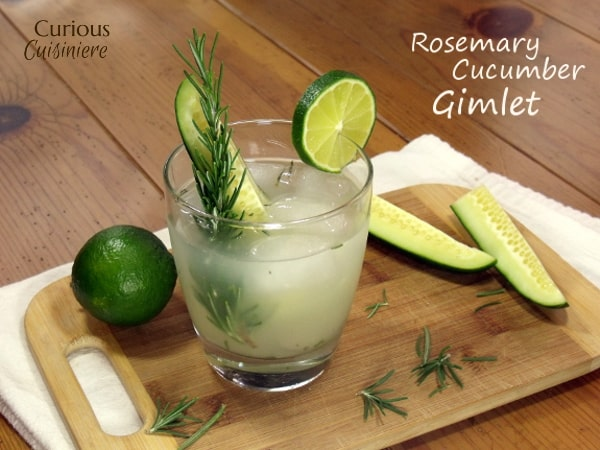 Light and refreshing, this Rosemary Cucumber Gimlet Cocktail is a fun summer twist on this classic cocktail! | Curious Cuisiniere