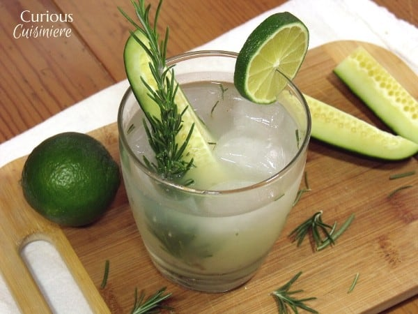 Cucumber Rosemary Gimlet Cocktail