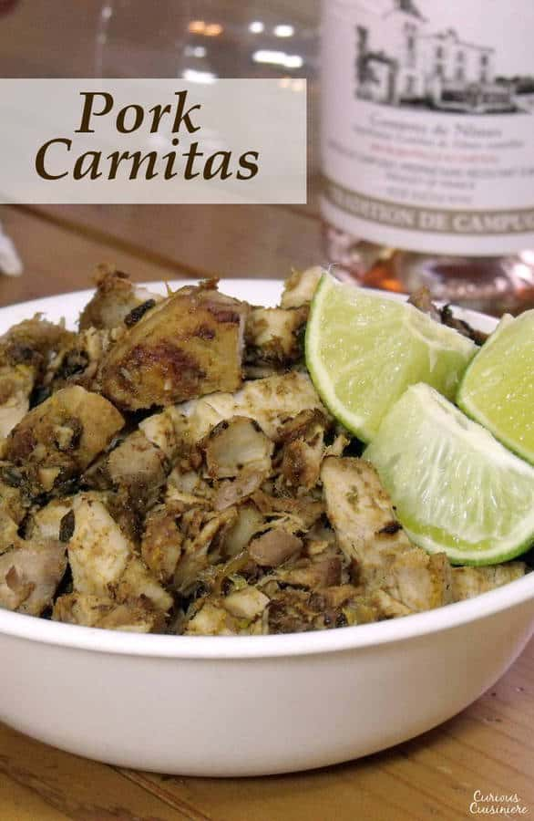 This Pork Carnitas recipe is an easy way to make Mexican Carnitas a little lighter, but still just as delicious. | www.CuriousCuisiniere.com
