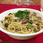 Spaghetti alla Carbonara and a #SummerOfArneis #WinePW