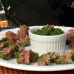 Nicaraguan Style Steak Skewers with Chimichurri #SundaySupper #GrillTalk