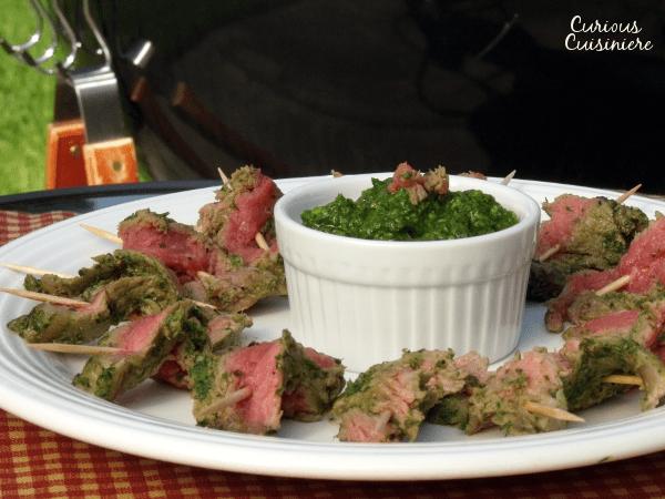 Nicaraguan Steak Skewers with Chimichurri  Curious Cuisiniere