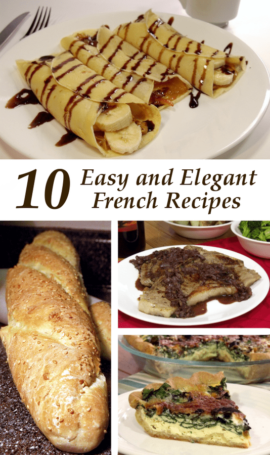 Explore French cooking with these ten easy and elegant French recipes.