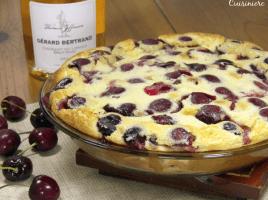 A French cherry dessert that resembles a cross between a cake, a custard, and a souffle. A perfect light dessert for summer cherry season.