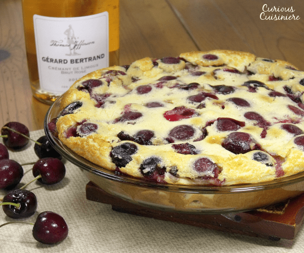Cherry Clafoutis and Cremant de Limoux Brut Rose