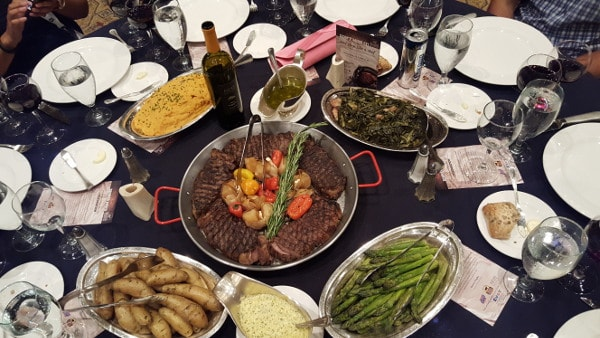 Food and Wine Conference 2015 Certified Angus Beef Brand family style dinner