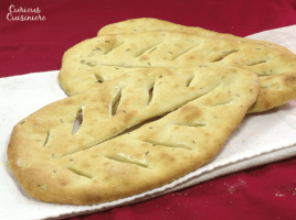 A crispy and crusty French flat bread that is cousin to Italian focaccia. Great as an appetizer or with a summer meal!