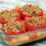 Gemista (Greek Stuffed Tomatoes) #SundaySupper