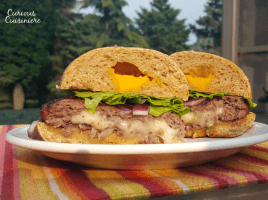 A juicy burger stuffed with gooey cheese is the perfect addition to any summer barbecue or cookout. Fire up the grill!