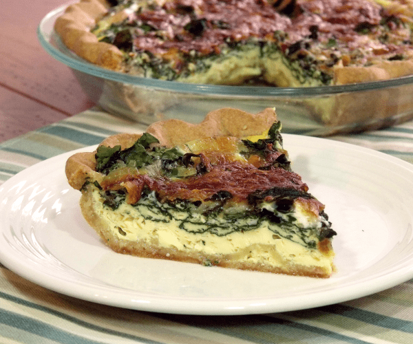 An easy French quiche with spinach is perfect for entertaining brunch or breakfast guests.