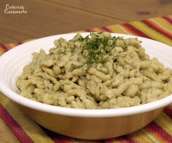 The simplest pasta you can make is German spaetzle dumplings. Add some herbs and saute them up with a bratwurst for a tasty meal.