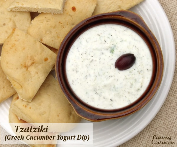 Perfect for veggie and pita dipping, Homemade Tzatziki sauce, or Greek Cucumber Yogurt Dip, is easy to make at home!