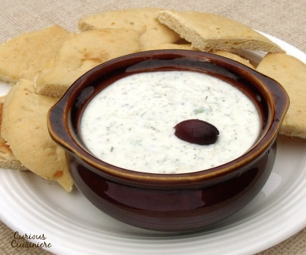 Perfect for veggie and pita dipping, Greek Cucumber Yogurt Dip, or Tzatziki, is easy to make at home!