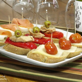 Fun, flavorful ingredients, piled high on a thick baguette slice make for unique appetizers or party food.   www.curiouscuisiniere.com