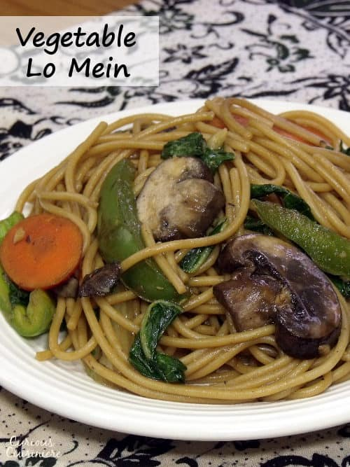This easy Chinese noodle dish is full of veggies and quick to make than calling for takeout! | www.curiouscuisiniere.com