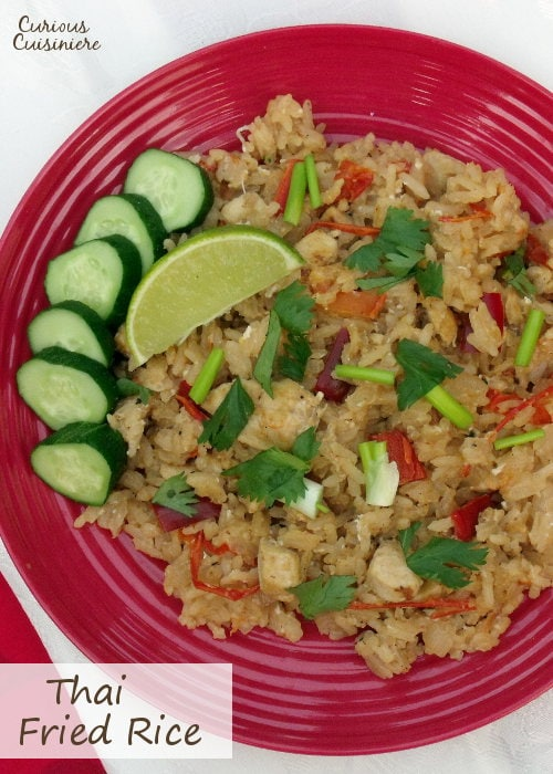 A new twist on fried rice, try this Thai version and you'll never think about fried rice the same again! | www.curiouscuisiniere.com