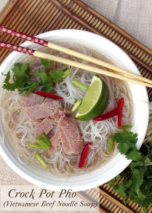 Crock Pot Pho (Vietnamese Beef Noodle Soup) • Curious Cuisiniere