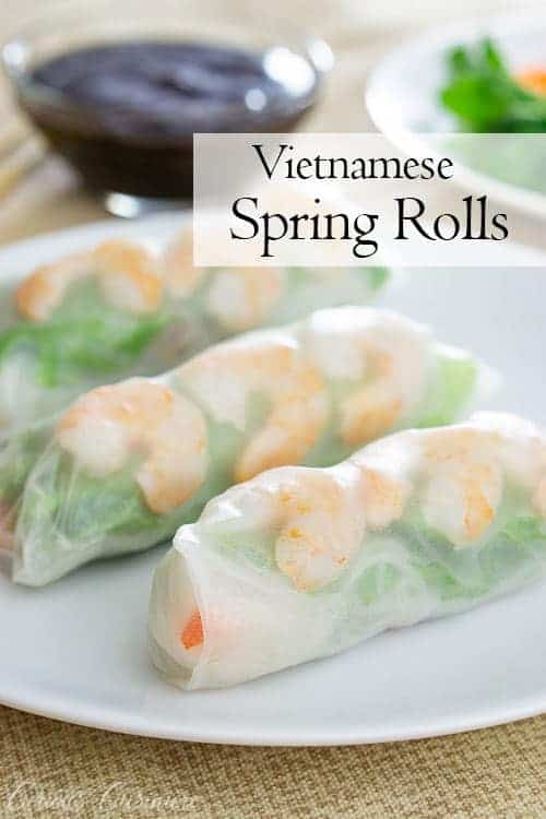 Full of fresh ingredients, Vietnamese spring rolls make for the perfect healthy and quick, grab-and-go lunch.