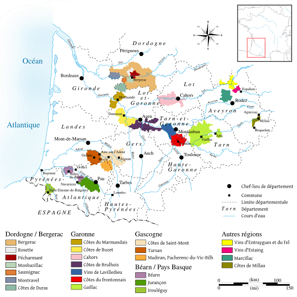 Wine regions of Southwest France