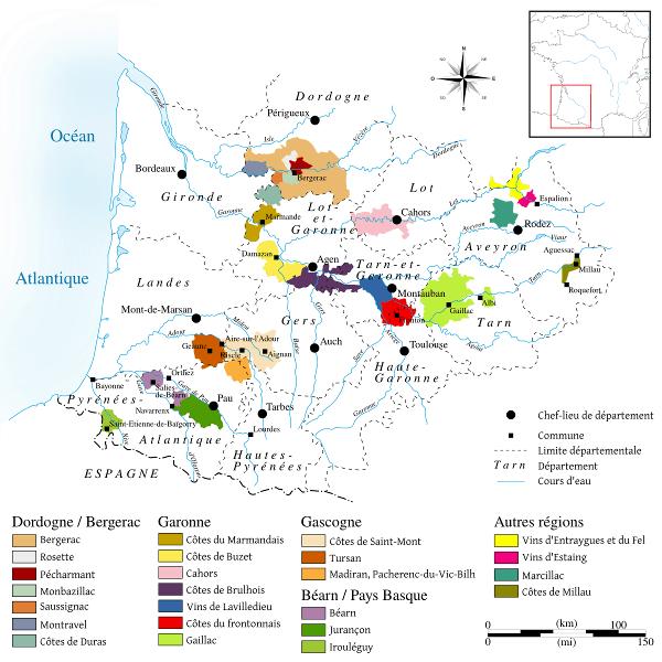 Wine regions of Southwest France