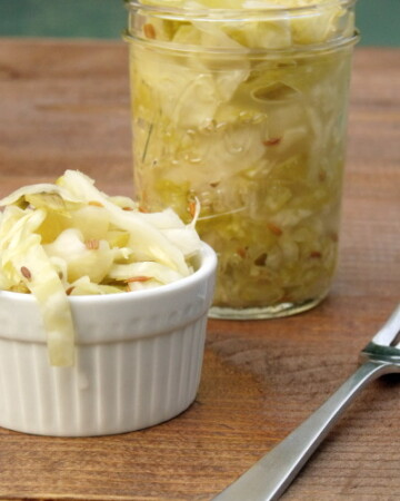 Cabbage and salt are all you need to make small batches of this authentic German sauerkraut at home.   www.curiouscuisiniere.com