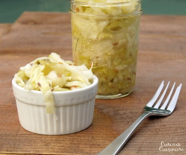 Cabbage and salt are all you need to make small batches of this authentic German sauerkraut at home. | www.curiouscuisiniere.com