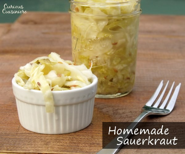 Cabbage and salt are all you need to make small batches of this authentic German sauerkraut recipe at home. | www.curiouscuisiniere.com