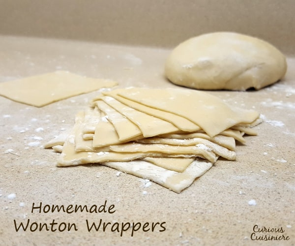 Wonton wrappers are fun and easy to make at home. Make a big batch and use them to make egg rolls, wontons, dumplings, ravioli, and more! | www.curiouscuisiniere.com