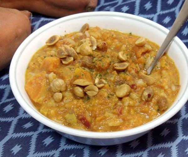 Vegetarian African Peanut Stew with Sweet Potatoes