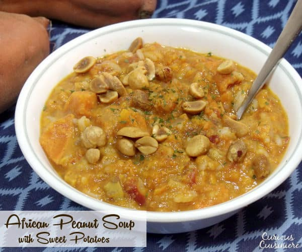 This Vegetarian African Peanut Stew with Sweet Potatoes is a perfect ...