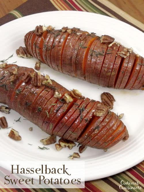 Hasselback sweet potatoes make for a beautifully presented holiday ...