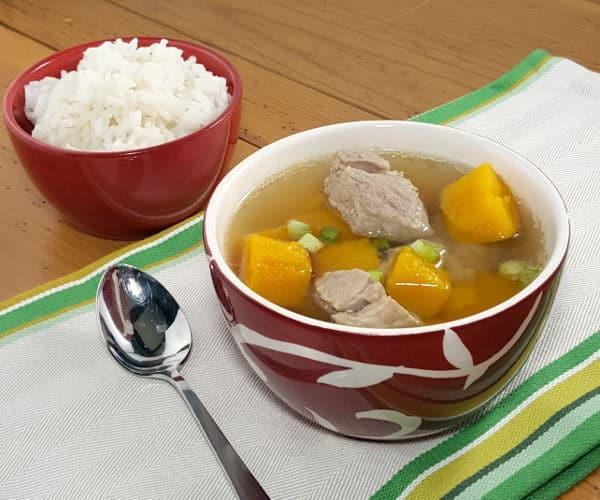 Vietnamese Pumpkin Soup with Pork