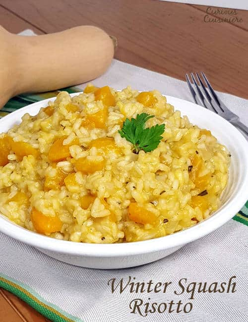 This creamy squash risotto, Risotto alla Zucca, gets a slight sweetness from butternut squash. It's the perfect recipe for a warming fall dinner! | www.CuriousCuisiniere.com