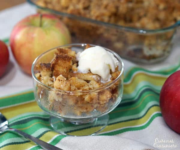 An Apple Brown Betty is an easy fall apple dessert recipe, perfect for a Holiday table. | www.curiouscuisiniere.com
