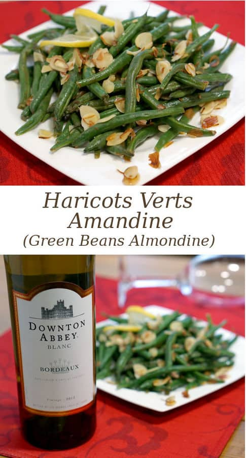 Dress up your green beans with toasted almonds and a splash of lemon. Haricots Verts Amadine is the perfect, easy yet elegant side dish for your holiday dinner! | www.curiouscuisiniere.com