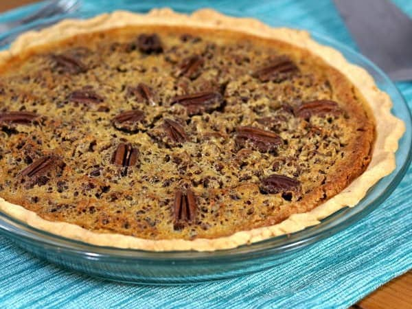 Sweet, sticky, and nutty, this recipe for Southern Pecan Pie Without Corn Syrup is just the way the dessert should be.