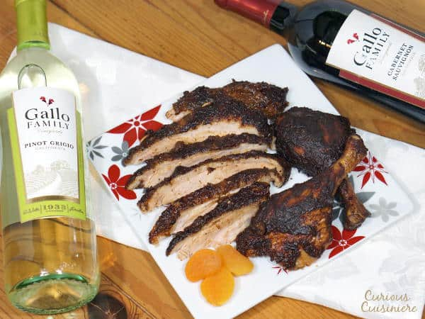 Change up your holiday dinner routine with this recipe for mole seasoned Roast Duck served with a rich Ancho and Apricot Mole Sauce.   www.curiouscuisiniere.com