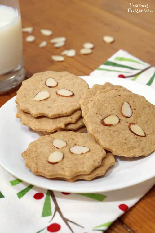 Also known as Dutch Windmill Cookies, our Speculaas (or Speculoos) might not be in the shape of windmills, but they still bring the same crisp, spiced cookie flavor of the traditional Christmas recipe. | www.curiouscuisiniere.com