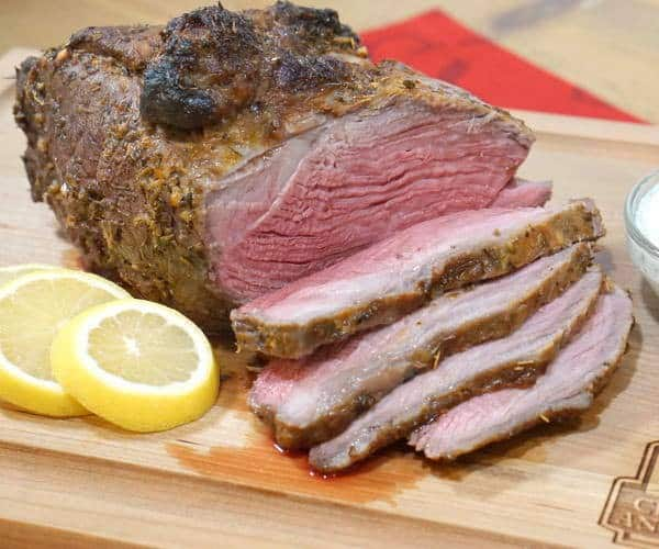 A bright and savory marinade infuses this sirloin tip roast with robust Greek flavors, creating a unique recipe, perfect for a holiday roast or any special occasion. | www.curiouscuisiniere.com
