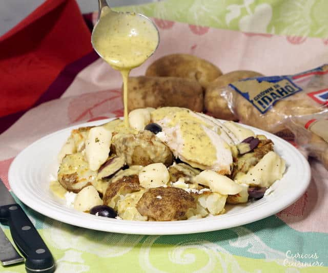 The classic Canadian dish takes on lemon, oregano and herbed cheese curds in this fun Greek Chicken Poutine fusion recipe.   www.curiouscuisiniere.com