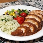 Chicken with Strawberry Mole Sauce #SundaySupper #FLStrawberry