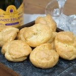 Gougères (French Cheese Puffs) and Blanquette de Limoux #WinePW
