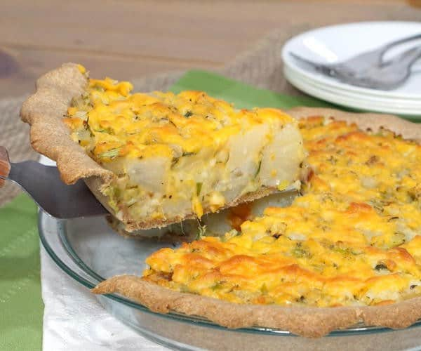 Homity Pie (British Cheesy Potato Leek Pie)