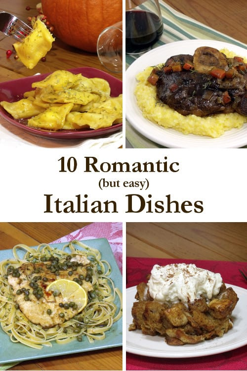 Wow your sweetheart with these impressive, romantic Italian Recipes. They're super easy, but we won't tell! |www.CuriousCuisiniere.com