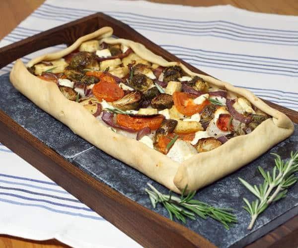 Rustic Winter Vegetable Tarte Provencale #FreshTastyValentines